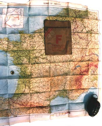 Silk map used by Special Forces since D-DAY